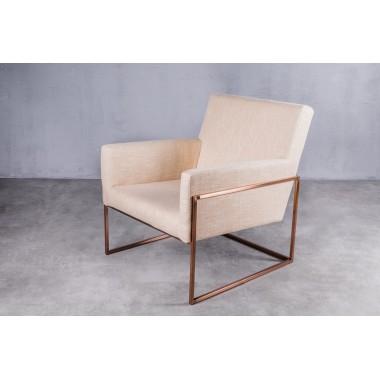 Fotel welurowy PURE Fuzzy Orange jasnopomarańczowy 73cm / GILLI
