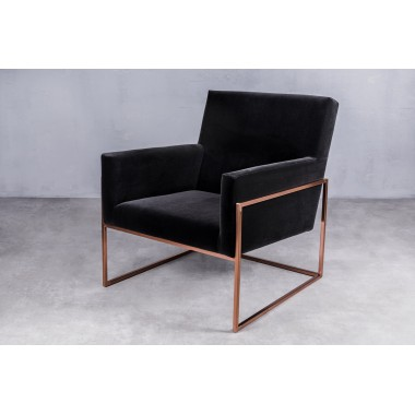 Fotel welurowy PURE Mrs. Black czarny 73cm / GILLI3cm / GILLI