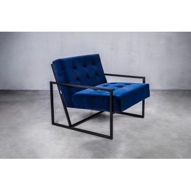 Fotel aksamitny KRABI 1S in Deep Deep Blue niebieski 71cm / GILLI