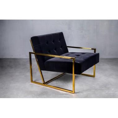 Fotel aksamitny KRABI Classic Black czarny 71cm / GILLI