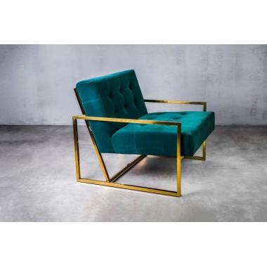 Fotel aksamitny KRABI Marine Green ciemnozielony 71cm / GILLI