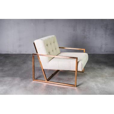 Fotel aksamitny KRABI 1S Glam Beige jasnobeżowy 71cm / GILLI