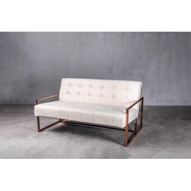 Sofa aksamitna KRABI 2S Glam Beige jasnobeżowa 119cm / GILLI