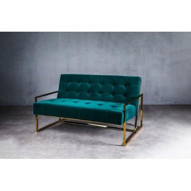 Sofa aksamitna KRABI 2S Marine Green ciemnozielona 119cm / GILLI
