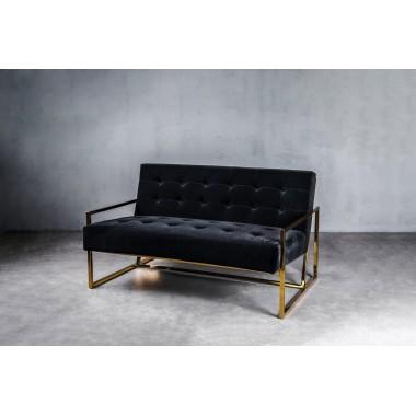 Sofa aksamitna KRABI 2S Classic Black czarna 119cm / GILLI
