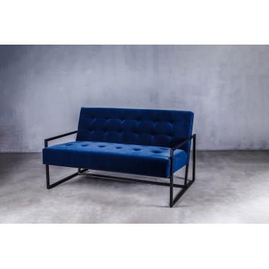 Sofa aksamitna KRABI 2S in Deep Deep Blue niebieska 119cm / GILLI