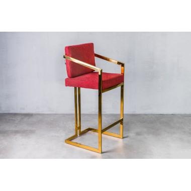 Hoker / krzesło barowe HAVELOCK Golden Red czerwony / GILLI