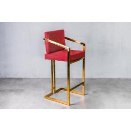 Hoker / krzesło barowe HAVELOCK Golden Red / GILLI