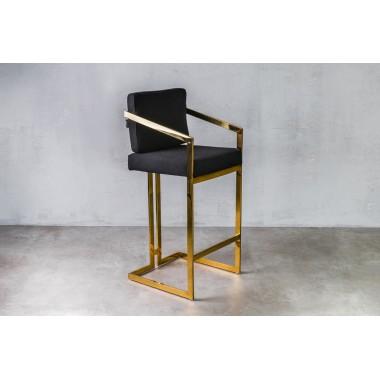 Hoker / krzesło barowe HAVELOCK Classic Black czarny / GILLI