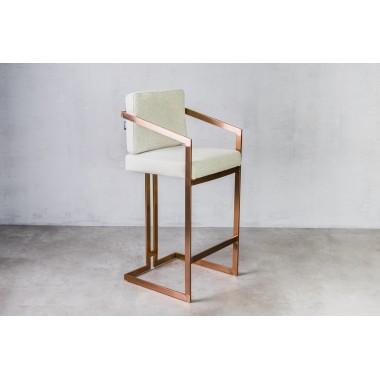Hoker / krzesło barowe HAVELOCK North Grey jasnoszary / GILLI