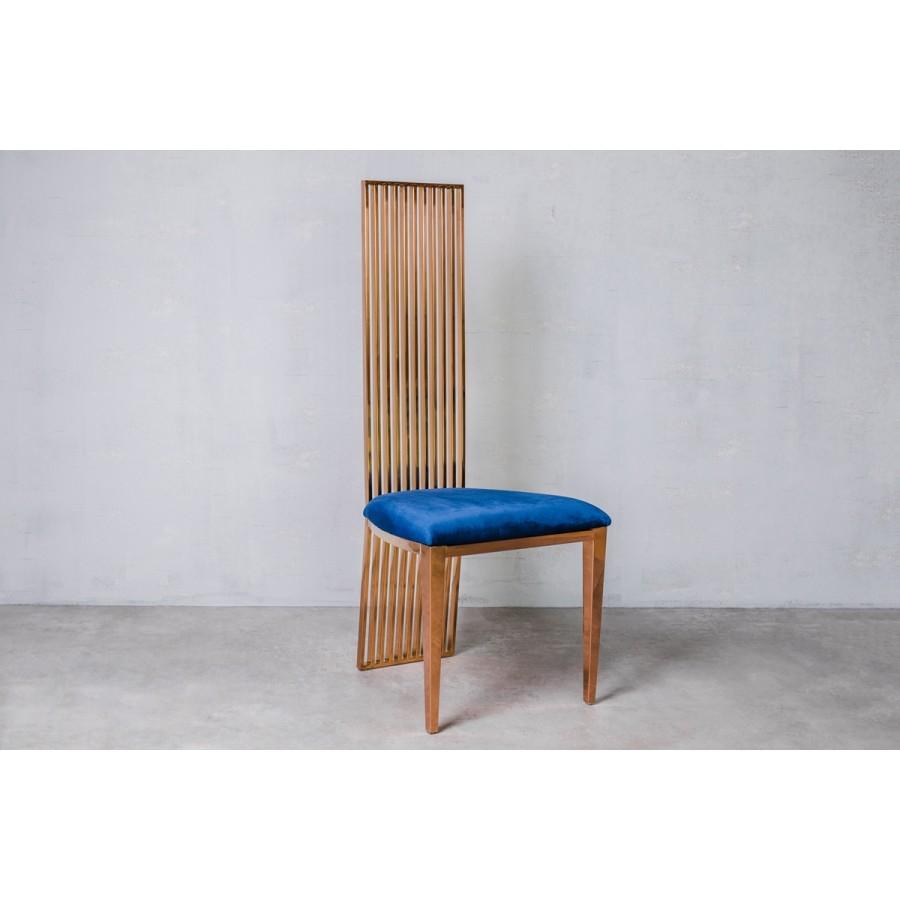 Krzesło CEILON Blue Velvet niebieskie 45cm / GILLI
