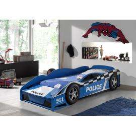 CAR BEDS Łóżko auto POLICE CAR dla dziecka 75cm / SCTDPOL