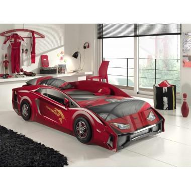 CAR BEDS Łóżko auto wyścigowe LAMBO RED dla dziecka / SLBO200R
