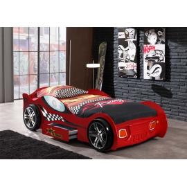 CAR BEDS Łóżko auto wyścigowe TURBO RACING RED / SCTR200R