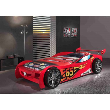 CAR BEDS Łóżko auto wyścigowe LEMANS RED / SCLM200R