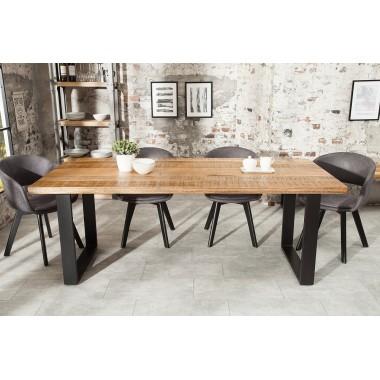 Stół do jadalni IRON CRAFT 200cm naturalny Mango / 38660