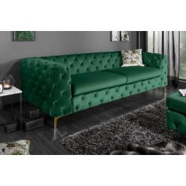 MODERN BAROCK Sofa 240 cm zielono złota / 39312
