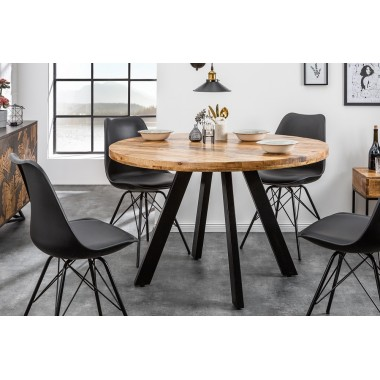 Iron Craft stół do jadalni 120 cm okrągły naturalny Mango / 39584