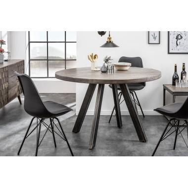 Iron Craft stół do jadalni 120 cm okrągły naturalny Mango / 39585