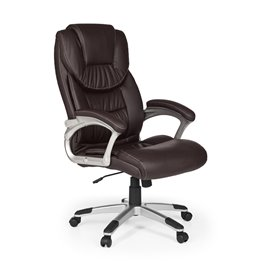 AMSTYLE office chair MADRID imitation leather brown ergonomic with headrest | Design Executive chair Ergonomic desk with tilt fu