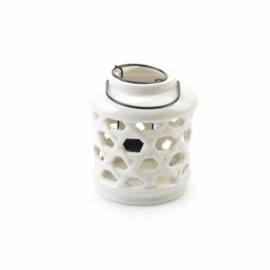 Ceramiczny lampion ecru, cm 13x10cm