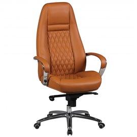 AMSTYLE office chair AUSTIN genuine leather desk chair Caramel 120KG Executive chair high back with headrest X-XL