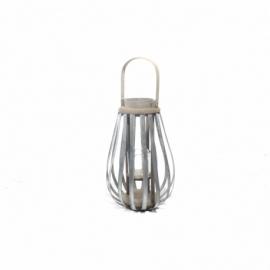 Drewniany lampion 9x38cm