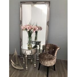 NEW YORK Stolik boczny z luksusowym szklanym blatem 48 cm / HI