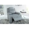 Relaksujący fotel HOLLYWOOD struktura jasnoszary / 37930