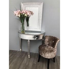NEW YORK Konsola z luksusowym szklanym blatem 90cm / HI 90 cm / HI