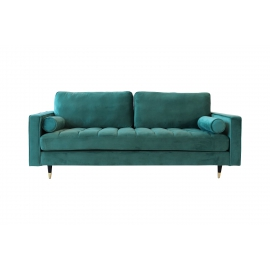 Sofa COZY VELVET 225cm aqua velvet / 39844