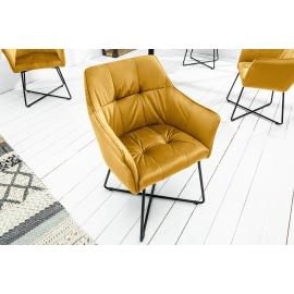 Krzesło LOFT musztardowo żółte / 39529