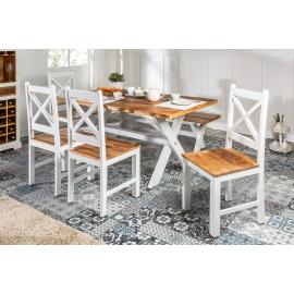 Krzesło białe LONG ISLAND Mango 45cm / 39779