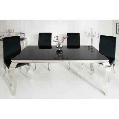 Stół Modern Barock 200 cm / Czarny blat