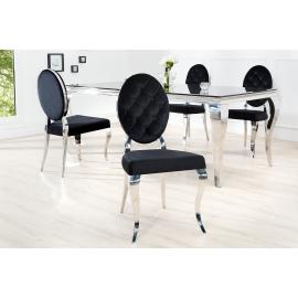 Krzesło Modern Brock oparcie okrągłe czarne