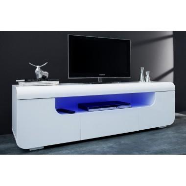 Szafka RTV Cube Ambience 150cm LED / biała