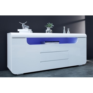Komoda CUBE AMBIENCE 150cm LED biała /  37868