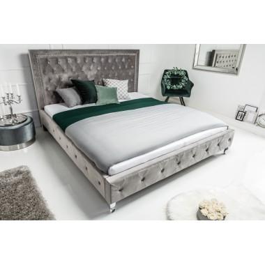 Łóżko EXTRAVAGANCIA 180x200 cm srebrny / 38968