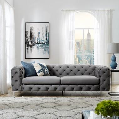 MODERN BAROCK Sofa  238cm szara / 38714