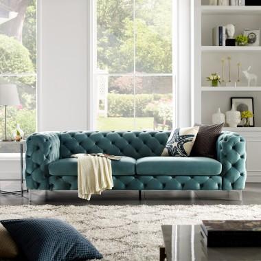 MODERN BAROCK Sofa 238cm morska / 38716