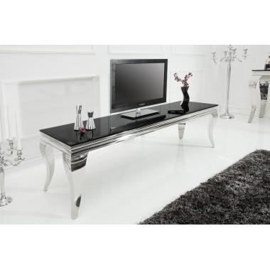 MODERN BAROCK Stolik RTV 160cm czarny srebrny / 37749