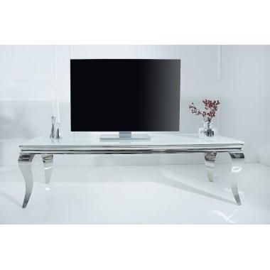 MODERN BAROCK Stolik RTV 160cm biały srebrny / 37907