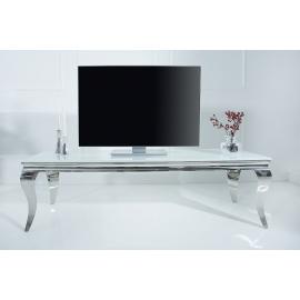 Stolik RTV MODERN BAROCK 160cm czarny srebrny / 37749