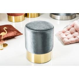 Pufa MODERN BAROCK 35cm srebrne złoto / 38577