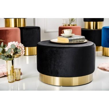 MODERN BAROCK Pufa 55cm czarne złoto / 38578