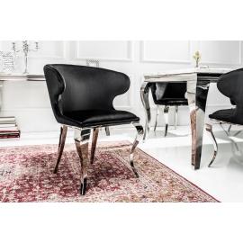 Krzesło MODERN BAROCK II czarny aksamit / 38871