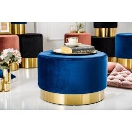 Pufa MODERN BAROCK 55cm niebieskie złoto / 38579