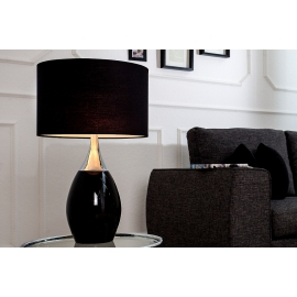 Lampa stołowa CARLA 60cm czarna / 37005