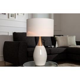 Lampa stołowa CARLA 60cm biała / 37006