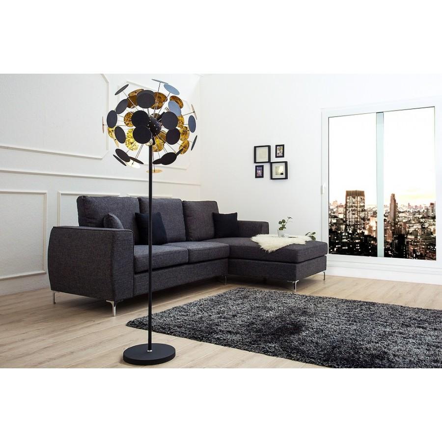 Lampa podłogowa INFINITY 170cm czarne złoto / 36839